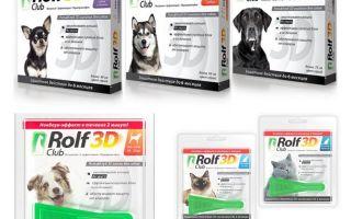 Drops Rolf Club 3D no blusām suņiem un kaķiem